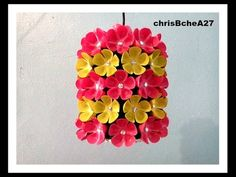 DIY# 38 Chandelier Made Of Recycled Plastic Bottles - YouTube