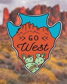 Go West | Sticker