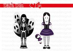 Dark Doll di nanadesignershop su Etsy