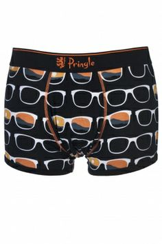 Pringle Sunglasses Hipster Boxer Shorts In Black and Orange  £8.00