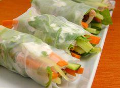 receta de rollitos frescos de verduritas y papel de arroz