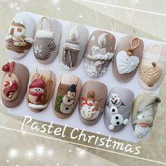 Christmas Nail Designs - My Cool Nail Designs Xmas Nails, 3d Nails, Holiday Nails, Halloween Nails, Christmas Nails, Cute Nails, Pretty Nails, Christmas Decor, Christmas Ideas