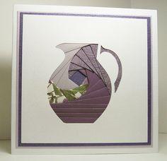 Iris Folded Card - Purple Pitcher