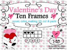 Valentine's Day Ten Frames Activity from 1-20:Total 12 worksheets:* count n color --3 pages* color ten frames according to the given number--3 pages* cut & paste activity----4 pages* Making 10, addition worksheet --- 2 pagesFor Simple Ten Frames:https://www.teacherspayteachers.com/Product/Ten-Frames-Activity-from-1-20
