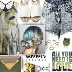 Summer! by wannanna on Polyvore featuring Dareen Hakim and summerbrights