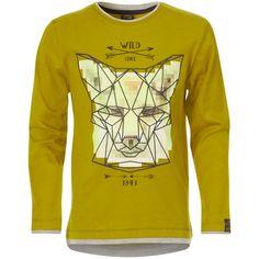 Tee-shirt 2 en 1 imprimé renard                                                                                                                                              ocre Garçon