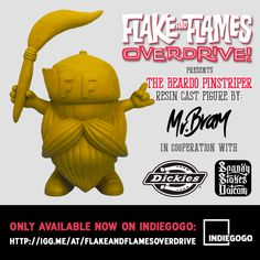 7 days left to support the 'Flake & Flames' Kustom Kulture documentary... get your 'BEARDO' on ya weirdo's!