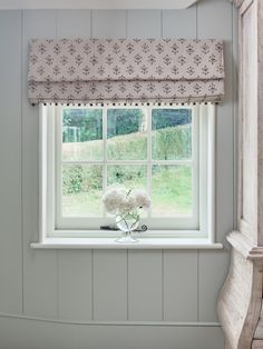 Peony Amp Sage Mr Hare Roman Blinds With Pompom Trim