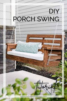 DIY Porch Swing Plans - Crafted by the Hunts - Modern Design
