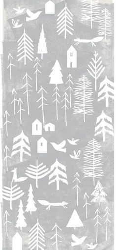 Ideas For Christmas Tree Design Illustration Inspiration Christmas Tree Design, Nordic Christmas, Christmas Art, Christmas Tables, Christmas Graphics, Modern Christmas, Christmas Holidays, Scandinavian Holidays, Scandinavian Pattern