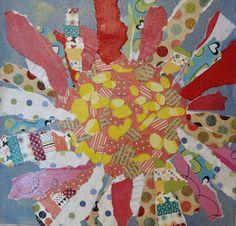 Angela Anderson Art Blog: Mixed Media Daisies - After School Art Class
