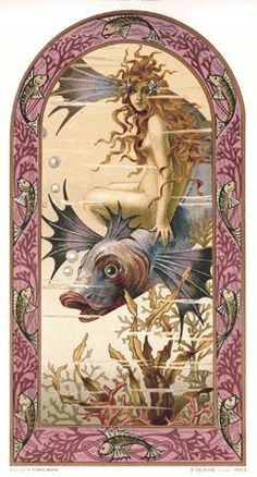 Rare Art Nouveau poster by Maurice Duflo, from Album de la Decoration, edited by A. Calavas, Paris, late 1890s. 10.5 x14""