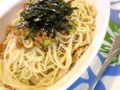 ★ 激簡単♪なのに激ウマ~♪納豆スパ ★の画像 Home Recipes, Asian Recipes, New Recipes, Ethnic Recipes, Japanese House, Japanese Food, Japanese Recipes, Tasty Noodles Recipe, Noodle Recipes