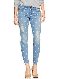 1969 destructed print always skinny skimmer jeans #Gap    #EastwoodPinPals
