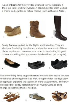 shoes to pack for Japan