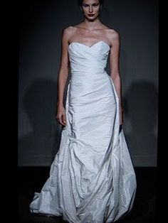 """Hourglassy - """"TIP #2: If you're busty, ask your bridal consultant if they have any designers in their store that do half-muslins. Ask to try on those designers, and then if you like any of them, see if a half-muslin would be a possibility for that dress."""""""