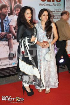 Spotted: Designer Masaba  Gupta with mother Neena at Kai Po Che premiere.