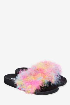 Fair Feather Friend Slide Sandal - Multi - Shoes | Sandals | Grunge