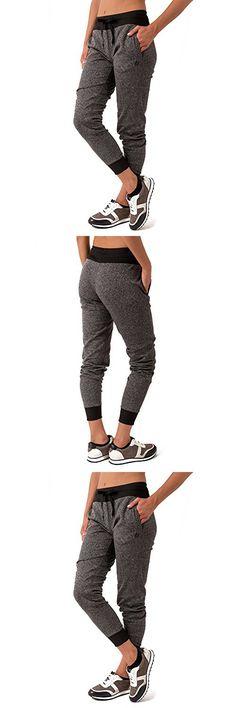 RBX Active Women's RBX Active Women's Fleece Cuffed Jogger Sweatpants Charcoal Grey S