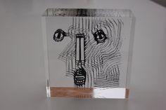 JUST REDUCED Signed Mid Century Lucite Abstract Sculpture by Merle Edelman