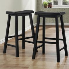 TRIBECCA HOME Salvador Saddle Back 29-inch Stool in Black Sand-Through (Set of 2) - Overstock™ Shopping - Great Deals on Tribecca Home Bar Stools
