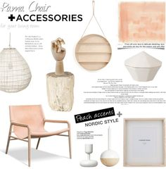 """Rama Chair + Accessories for your living room"" by little-bumblebee on Polyvore"