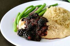 Blackberry and Balsamic Smothered Chicken....So Fancy