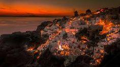 Photo Oia Santorini Greece Sunset by Frank Hazebroek on Oia Santorini Greece, Santorini Sunset, Santorini Island, Site Archéologique, Greece Travel, Greek Islands, Tudor, Paris Skyline, Tourism