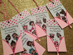LOL Surprise Doll Party Favor Tags  Set of 6