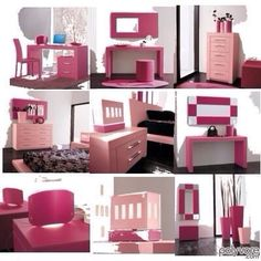girly office. perfect pink office decor for the fashionista. love