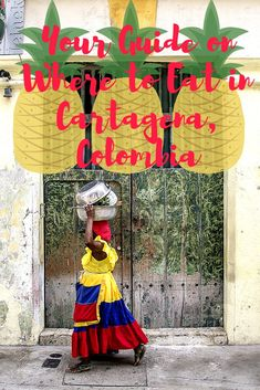 Where and what to eat in Cartagena, Colombia! Including traditional food, street food, cheap eats, and date night meals. Travel Couple, Family Travel, Ecuador, Peru, Chile, Colombia Travel, Santa Marta, South America Travel, Amazing Destinations