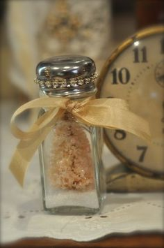 Brush bottle in a vintage salt shaker...divine!