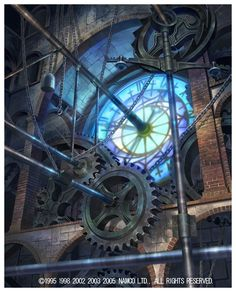 GEARS ON A CLOCK TOWER