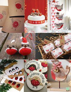 #Robin #Christmas #Wedding #Decoration Ideas Mood Board from The Wedding Community