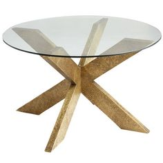 """A big """"X"""" marks this modern treasure. With sleek lines and an embossed brass finish, this base definitely has a wow factor. 30"""" glass top sold separately.  $99.00  Pier 1"""
