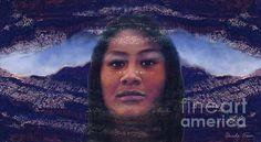 Title:  Blue Feather   Artist:  Ursula Freer   Medium:  Digital Art - Fine Art Print