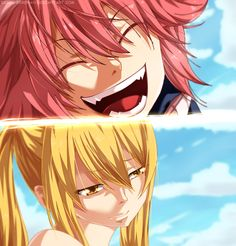 Fairy Tail Natsu and Lucy - reunion 1 year later...