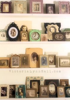 Vintage photo collection display - Victoria Lynn Hall