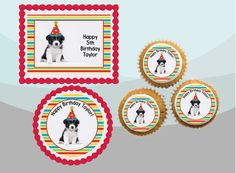 Personalised Border Collie Scarf  with free name below the logo.