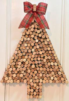 Christmas Card Holder Wine Cork Christmas by uncorKedbyKimberly