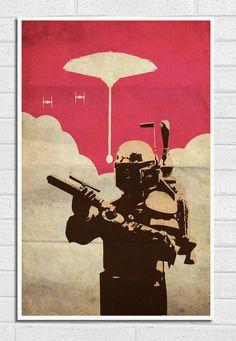 Star+Wars+Boba+Fett+Vintage+11X17+Poster+Print+par+Posterinspired,+$18.00