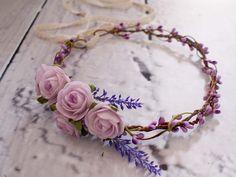 Hair & Head Accessories – Flower head wreath / Floral crown / Headpiece – a unique product by LolaWhite on DaWanda