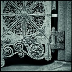 The doors of the Getty tomb in Graceland Cemetery, Chicago. Designed by Louis Sullivan