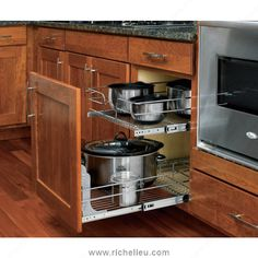 Double Pull-Out Basket in Chrome Wire - Richelieu Hardware