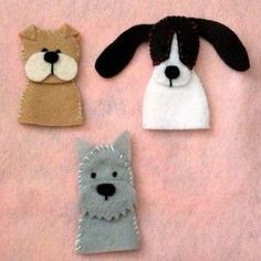 Puppy Finger Puppets {Felt With Love Designs}