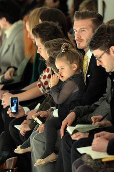 New York Fashion Week Front Rows - David and Harper Beckham