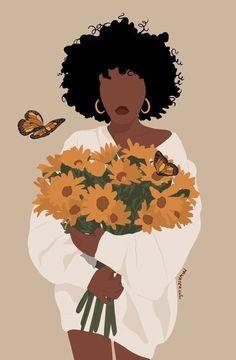 Art Black Love, Black Girl Art, Art Girl, Black Art Painting, Black Artwork, Doodle Drawing, Arte Black, Magic Art, African American Art