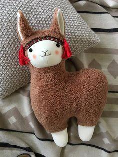 Llama Pillow, Llama Plush, Llama Llama, Llama Stuffed Animal, Stuffed Animal Patterns, Handmade Stuffed Animals, Cute Stuffed Animals, Alpacas, Softies