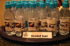 """Space Party """"rocket fuel"""" drinks for the kids"""