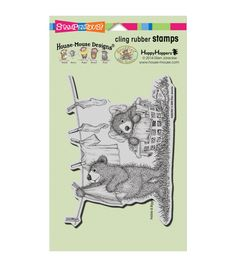 """Stampendous Gruffies Cling Rubber Stamp 4""""X6"""" Sheet-Laundry Day"""